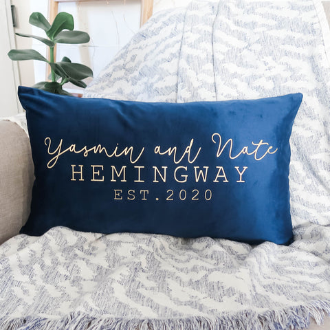 Personalised Couple Velvet Cushion