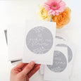 Personalised Wedding Milestone Cards