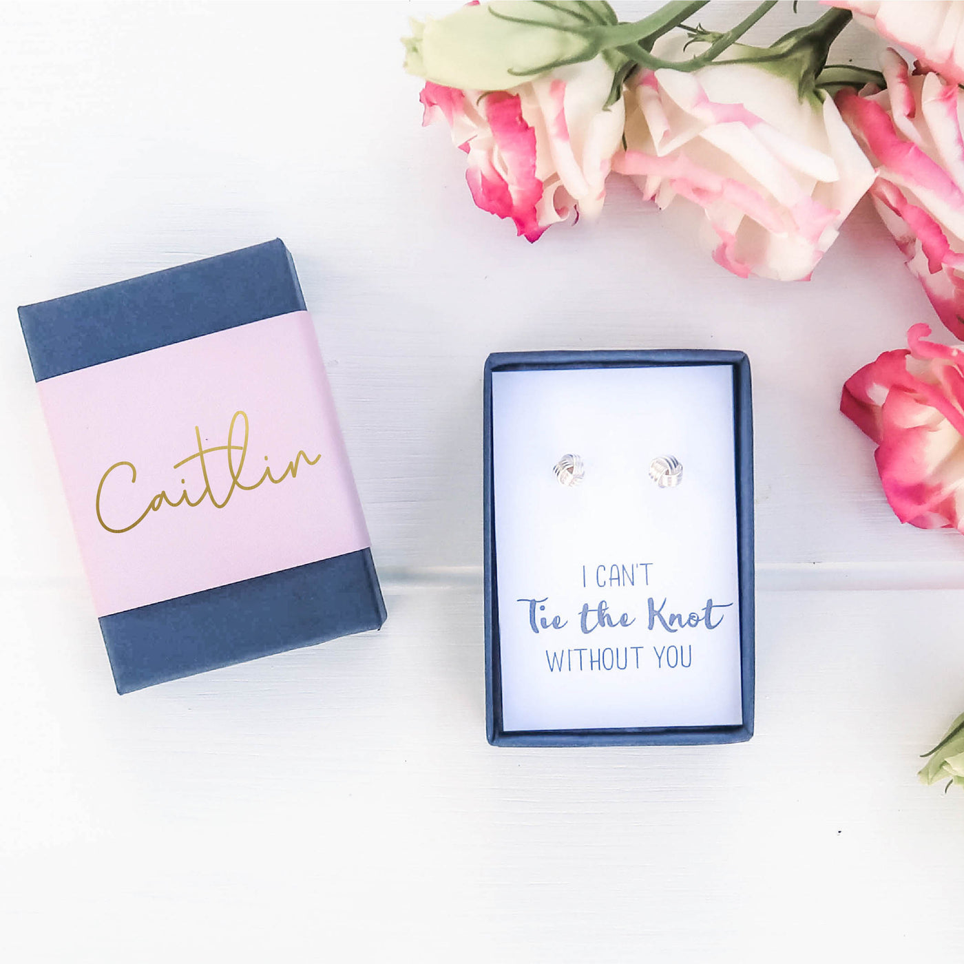 I can't Tie the Knot without you Earrings Gift