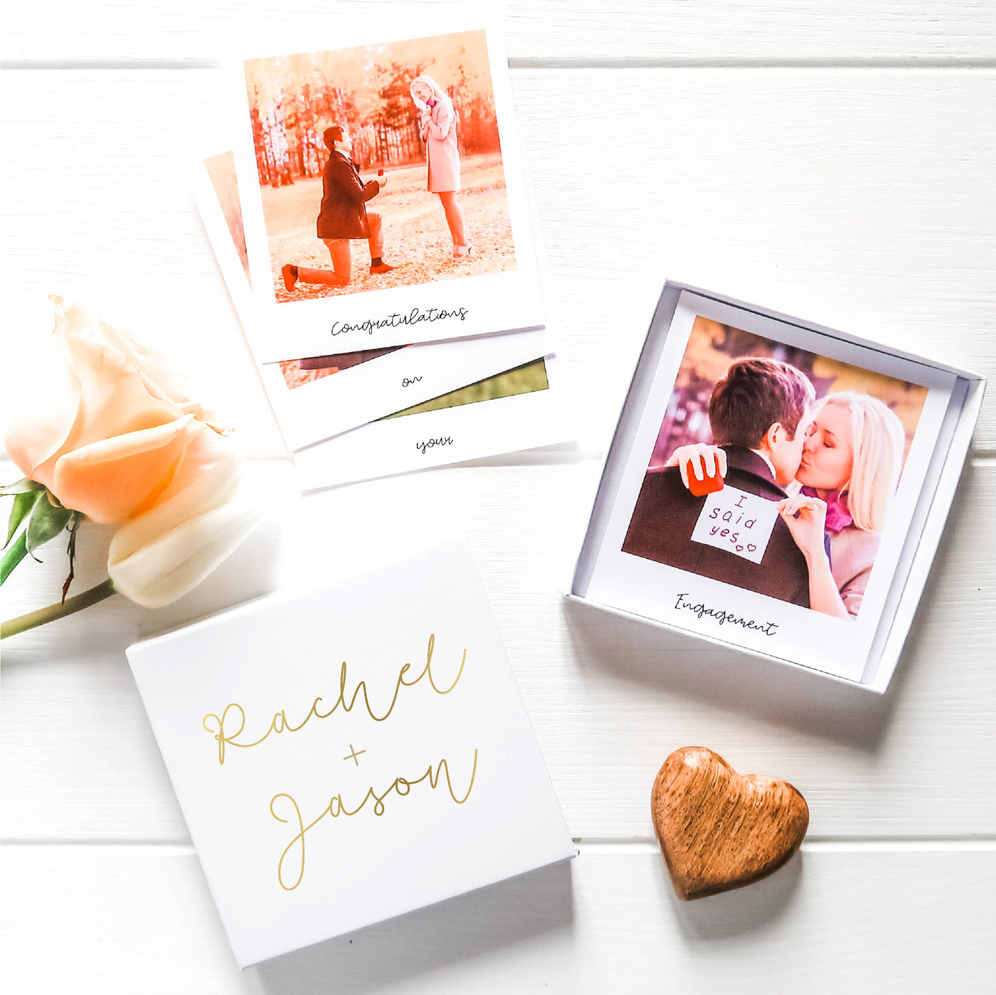 Engagement Matchbox Photo Gift