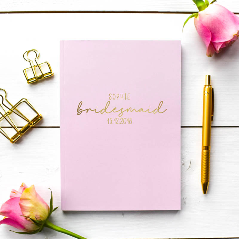 Personalised Wedding Role Notebook