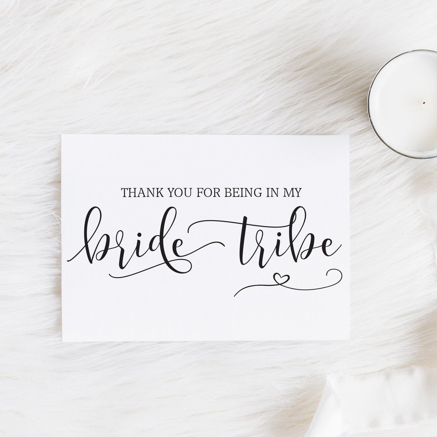 Thank you for being in my Bride Tribe Notecard