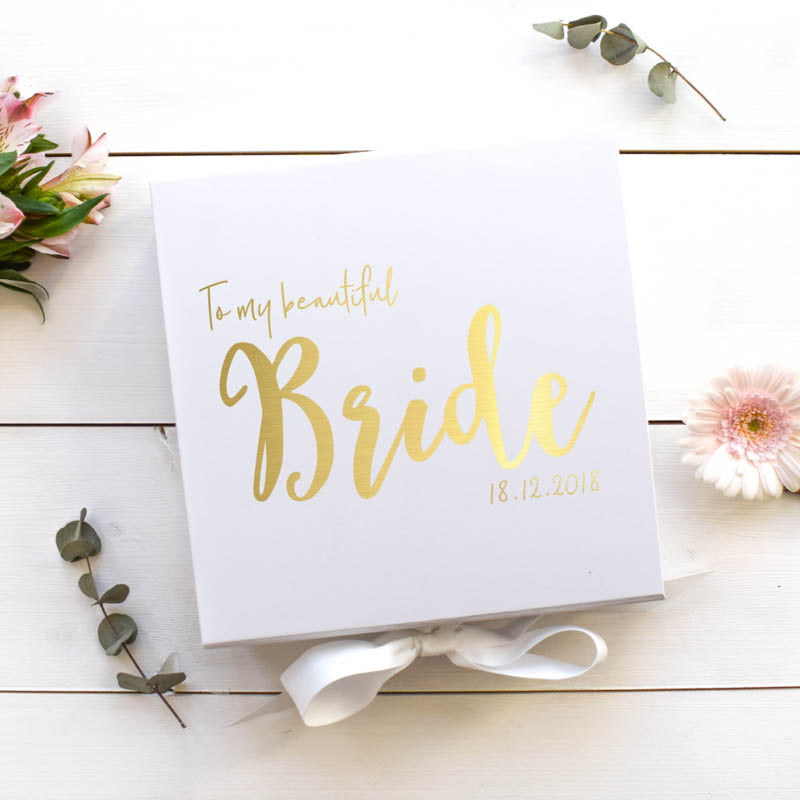 To my Beautiful Bride Gift Box
