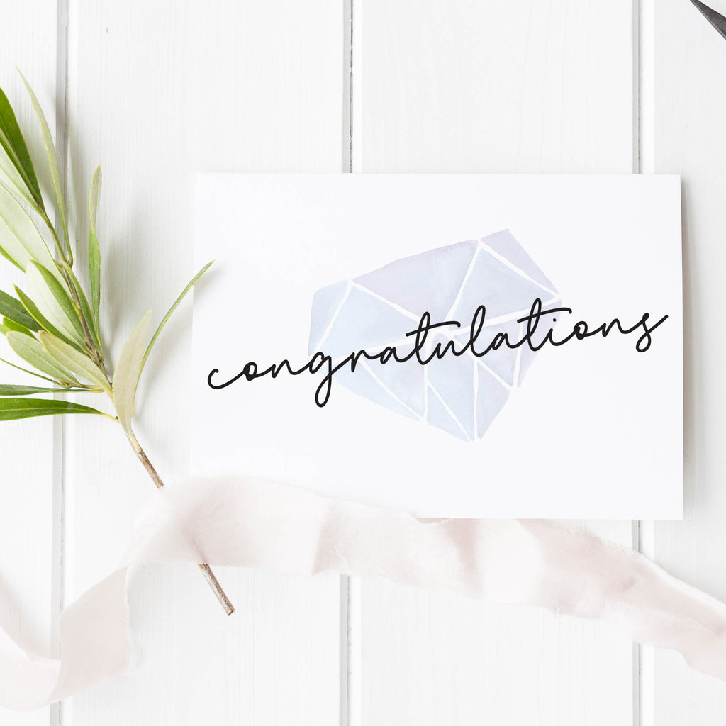 Engagement Congratulations Notecard