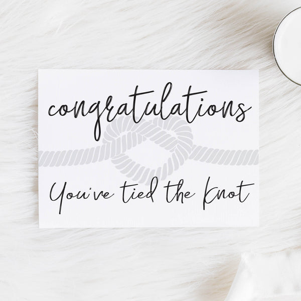 Congratulations You've tied the Knot Notecard