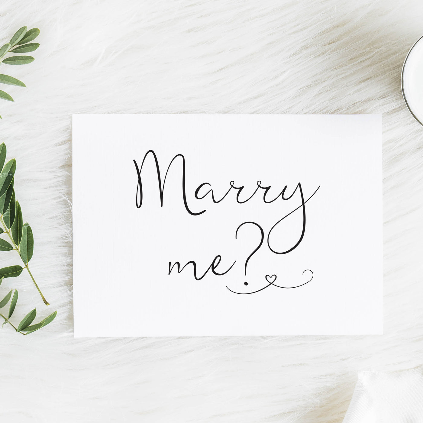Marry Me? Card