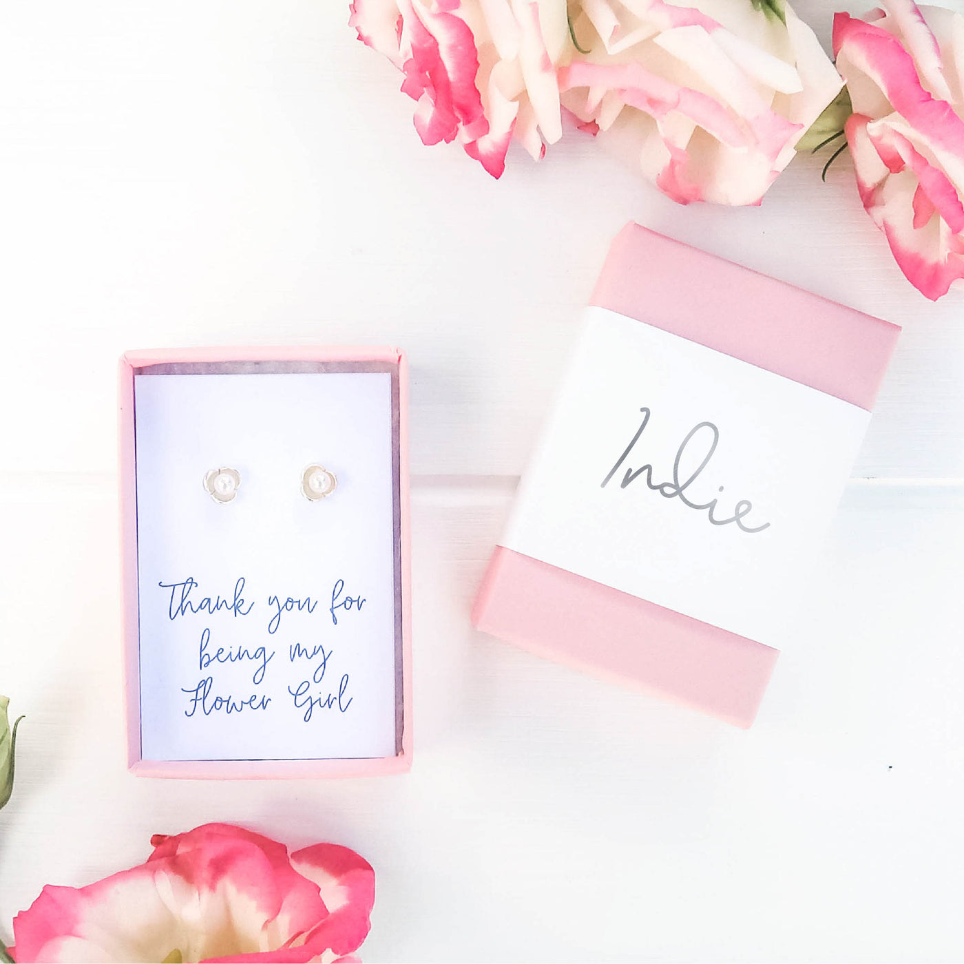 Thank you for being my Flower Girl Earrings Gift