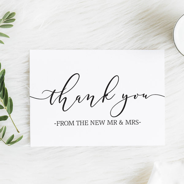 Thank you from the new Mr and Mrs Card