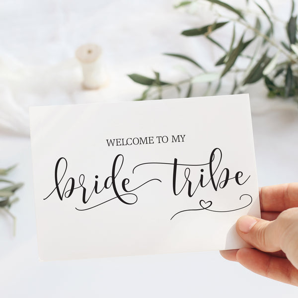 Welcome to my Bride Tribe Notecard