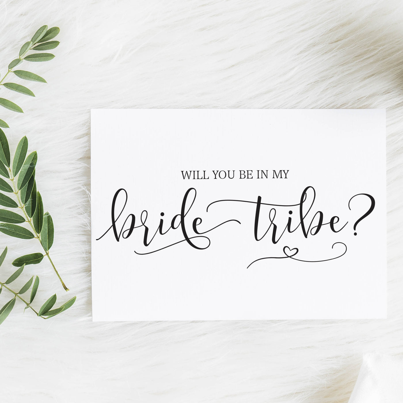 Will you be in my Bride Tribe? Notecard