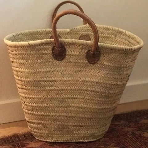 X-Large Straw Beach Tote - French Market Basket