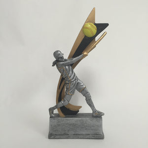 Live Action Resin Female Softball 82520GS