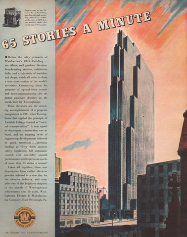 1937 Westinghouse Elevators RCA Building Golden Jubilee Digital Download