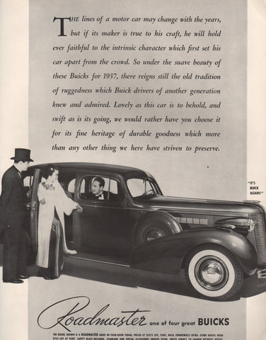 1937 Buick Roadmaster Automobile Digital Download