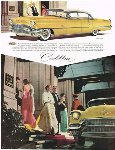1950 Yellow Cadillac Automobile Ad DD