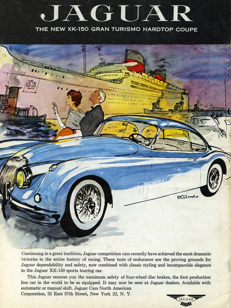 1957 Jaguar Sports Car Automobile Ad