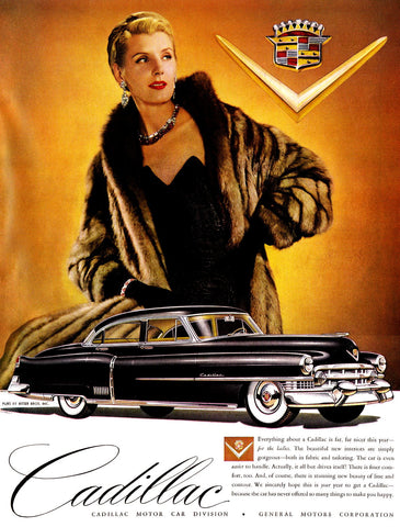 1951 Black Cadillac Automobile Ad