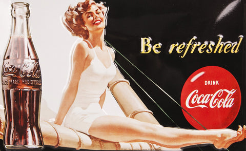 Coca-Cola Bathing Beauty 3D Embossed Photo Image DD