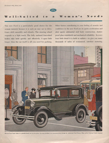 1931 Ford Tudor Sedan Automobile Digital Download