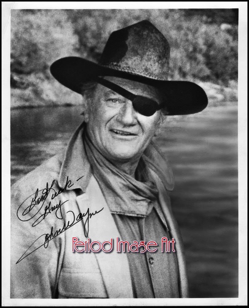 John Wayne Movie Actor Autograph Photo Image DD