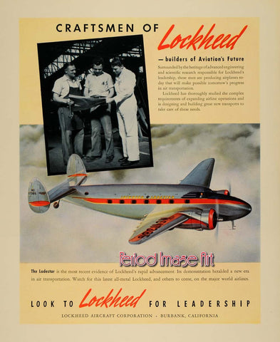 1942 Lockheed Craftsman Loadstar Manufacturing Aviation Ad DD