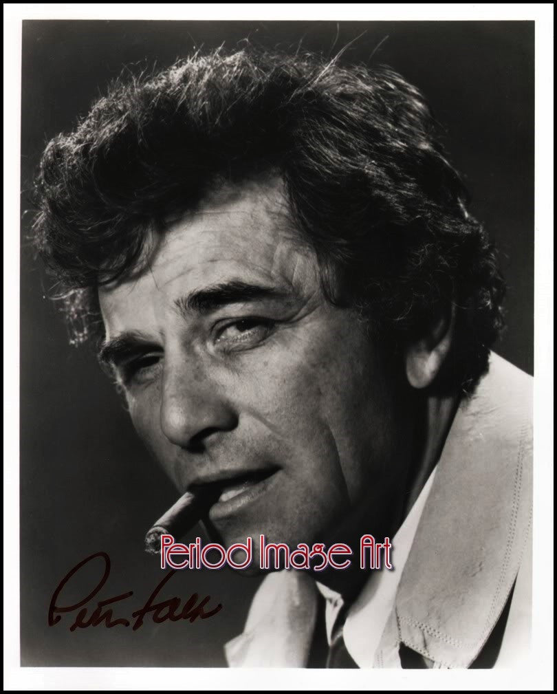 Peter Faulk Columbo Actor TV Show Autograph Photo Image DD