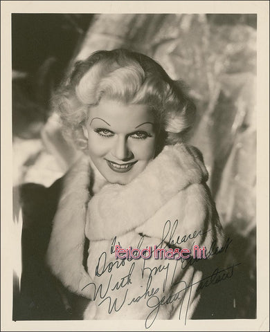 Jean Harlow Movie Actress Autograph Photo Image DD
