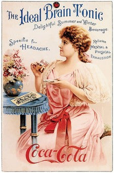1897 Coca-Cola The Ideal Brain Tonic Soda Ad DD