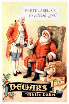 1936 Dewar's White Label Whiskey Santa Distillery Ad DD