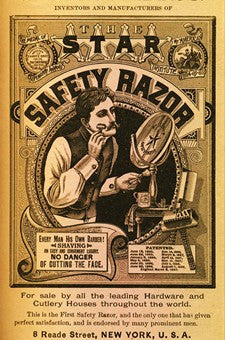 1897 Kampfe Brothers Star Safety Razor Shaving Ad DD
