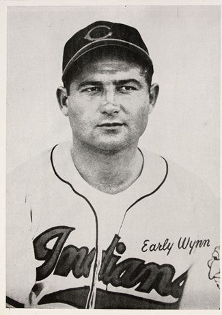 1948 Cleveland Indians Early Wynn AL Baseball Photo Image DD