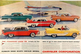 1956 2-Pg Chrysler Forward Look Automobile Ad DD