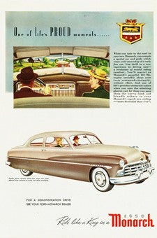 1950 Ford Monarch Automobile Ad DD