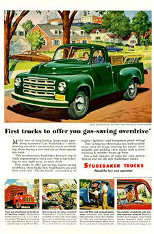 1950 Studebaker Trucks Transportation Ad DD