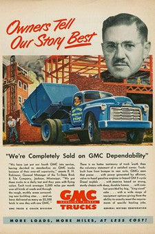 1950 GMC Trucks Dependability Transportation Ad DD