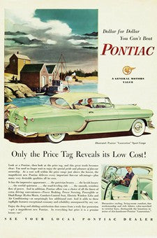 1954 Green Pontiac Layrentin Sport Coupe Automobile Ad DD