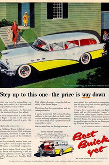 1956 Buick Special Estate Station Wagon Automobile Ad DD