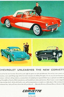 1956 Chevrolet Corvette Sports Car Automobile Ad DD