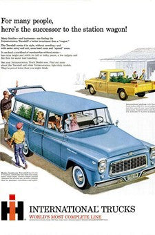 1960 Harvester Husky Travelall Station Wagon Automobile Ad DD