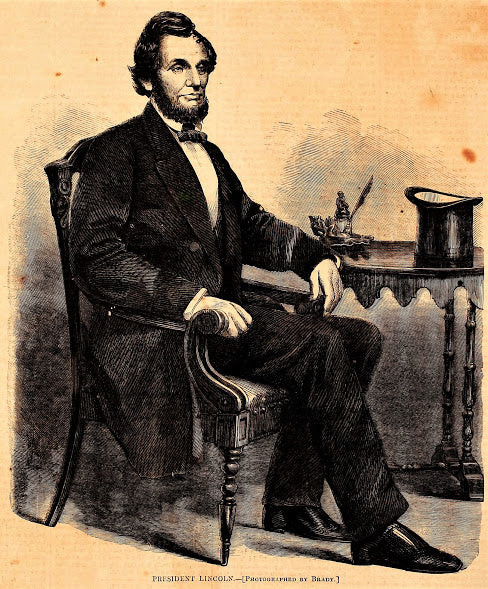 1861 President Abraham Lincoln Harper's Weekly Print DD