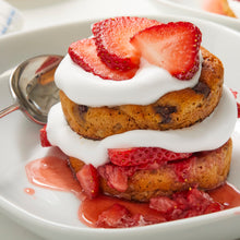 Load image into Gallery viewer, Gluten Free Chocolate Chip Biscuits with Whipped Cream and Strawberries