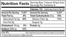 Load image into Gallery viewer, Chocolate Chip Biscuit Nutrition Info