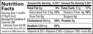 Everything Better English Muffin Nutrition Info
