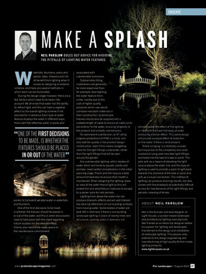 Pro landscaper magazine August 2019 MAKE A SPLASH