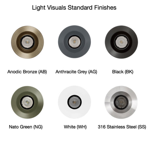 Light Visuals Standard Finishes