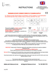Light Visuals Instruction Leaflet