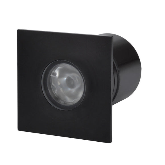 Square recessed LED light LV-(BL414SQ) black anodised aluminium - Light Visuals - 1