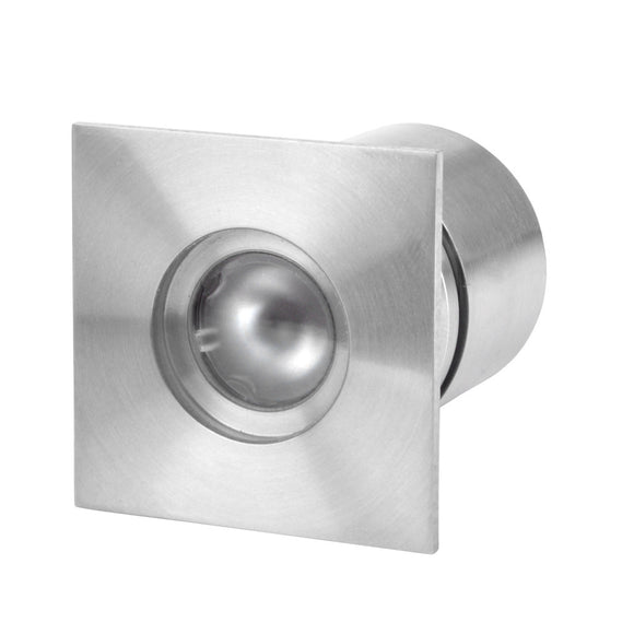 Square recessed LED light (LV-SS414SQ) 316L stainless steel - Light Visuals - 1