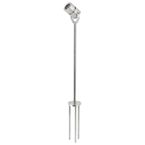 Stainless Steel Planter/Border Spike Pole Light - Light Visuals