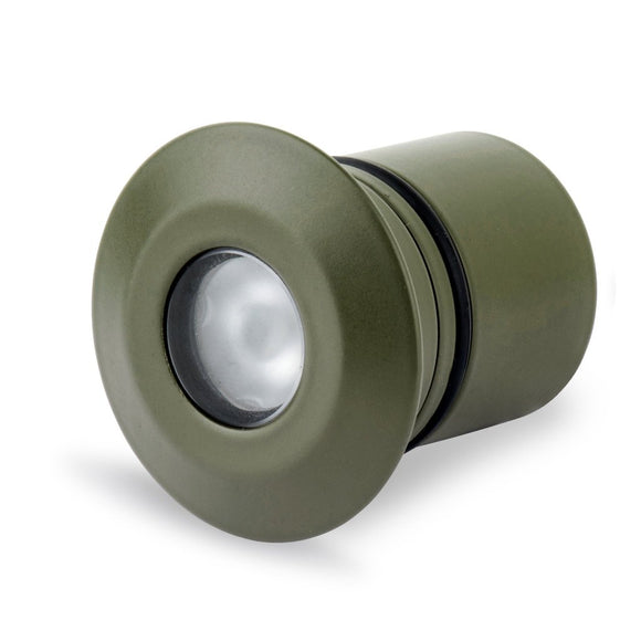 Round Recessed Light (LV-NG414R) Nato Green UV stable polyester powder coated stainless steel - Light Visuals